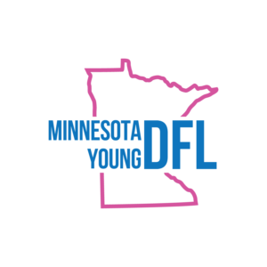 MN Young DFL logo. The official youth caucus of the Minnesota Democratic-Farmer-Labor party.